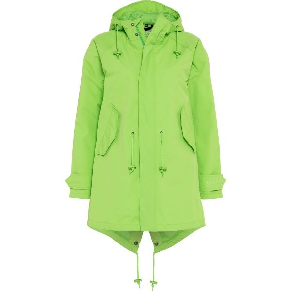 atmungsaktiver Hardshell Mantel für Damen - limette -