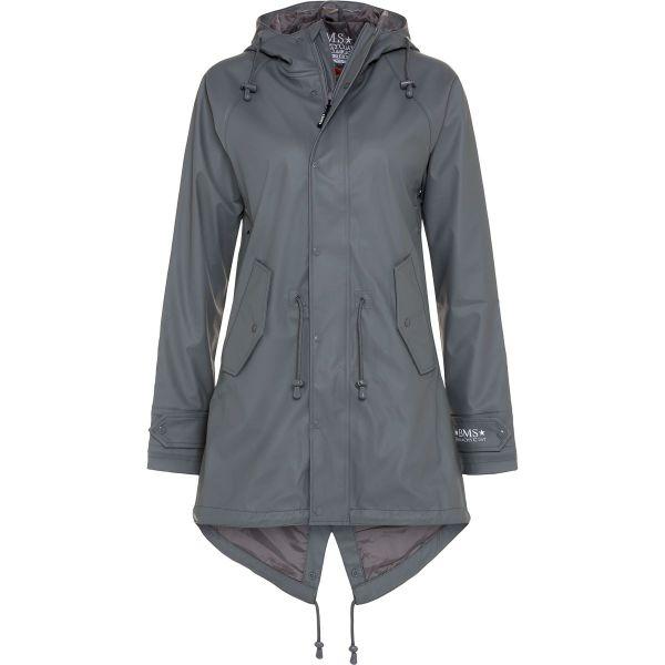Regenmantel 100% wasserdicht cool grey