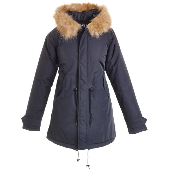 HafenCity Coat SoftLan Sorona Wintermantel -schwarz