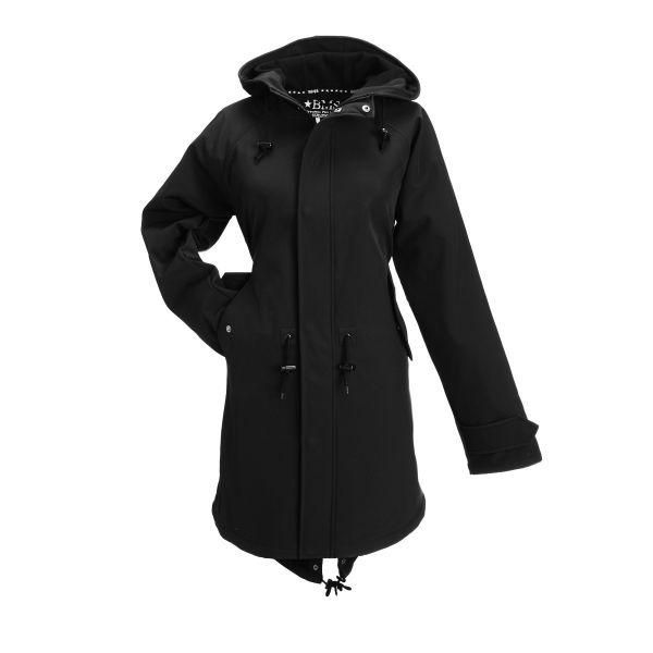 HafenCity Coat SoftShell Stealth - schwarz