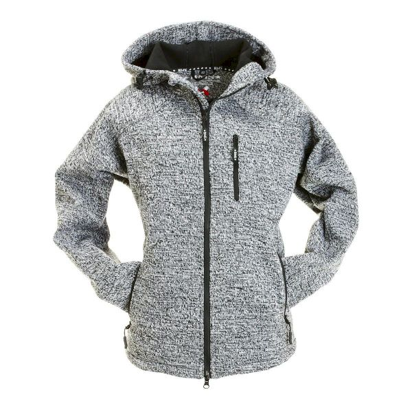 SoftKnit Jacke Damen - SoftShell mit Strickoptik