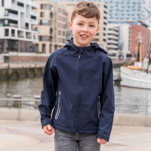 SoftShell Jacke mit Kapuze für Kinder - Stealth