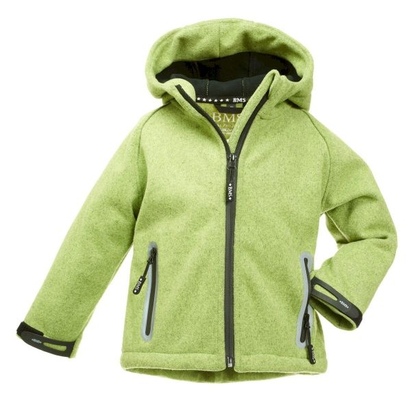 SoftKnit Funktionsjacke in Strickoptik mit Kapuze für Kinder
