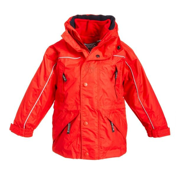 Outdoorjacke mit ZipIn Fleece - rot