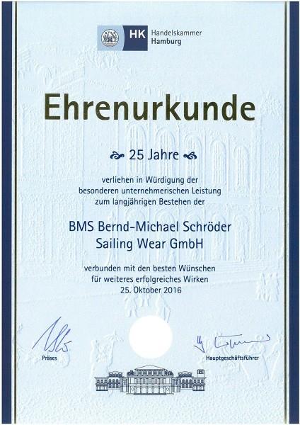 2016-08-17_Ehrenurkunde-25Jahre