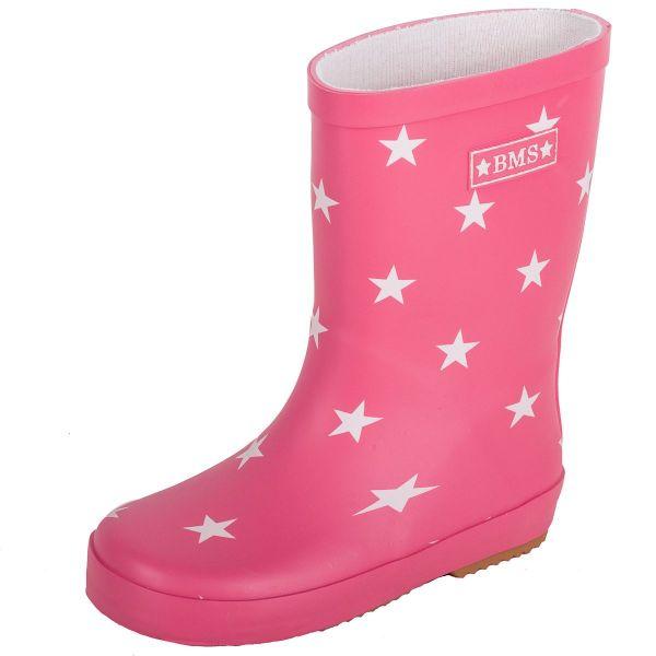 Gummistiefel aus Naturkautschuk - pink mit Sternen