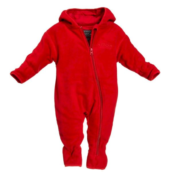 BMS Baby Overall Fleece - rot