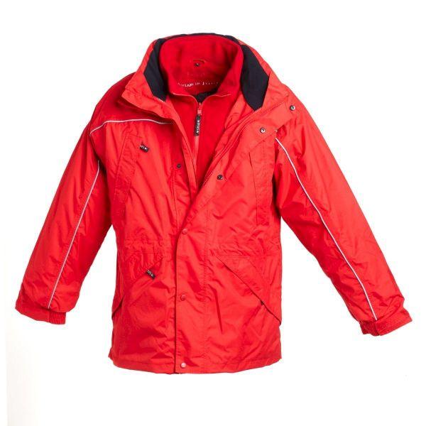 BMS Doppeljacke mit ZipIn Fleece - rot